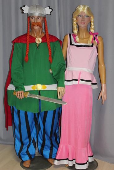 Carnaval - Dinan - Dessins Animés - Abraracourcix et Bonemine