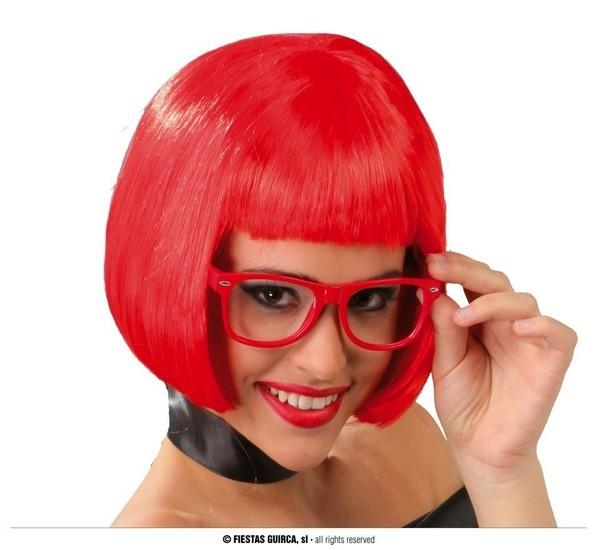 Carnaval - Dinan - Perruque carré rouge