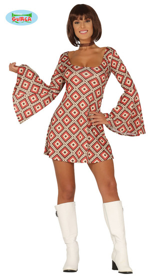Carnaval - Dinan - Robe années 70 - 24€00